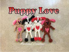 Rainbow Loom Valentine's Day Puppy -  DIY Loom Bands ( Single Loom )