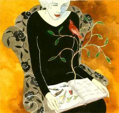 De la información a la imaginación, con la lectura (ilustración de Denise Hilton Campbell)