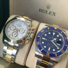 The most popular of the Rolex steel and gold models. #DailyDuo Submariner or Daytona?