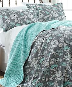 Another great find on #zulily! Agnes Reversible Quilt Set by Colonial Home Textiles #zulilyfinds