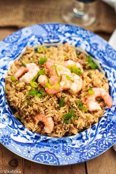Cajun Rice with Shrimp. #onepotdinner