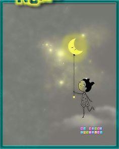 girl turning out the light illustration Sun Moon Stars, Sun And Stars, Art And Illustration, You Are My Moon, Moon Magic, Beautiful Moon, Moon Art, Moon Child, Cute Art