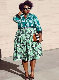 plus size style fashion week outfit fashion week street style 02 | I love the print mixing. Style Fashion, Curvy Fashion, Fashion Prints, Types Of Fashion Styles, Plus Size Fashion, Fashion Outfits, Spring Fashion, Trendy Outfits, Fall Outfits