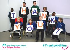 """@easyuk #ThanksAMillion Friends of Columbus School and College"" #Giving #Fundraising #Charity"