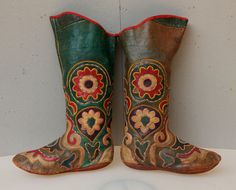 Old Handmade Leather Boots Kyrgyz Boots Tribal Boots Tribal Leather Boots - FAST SHIPMENT with ups - boots-001 by CICEM on Etsy https://www.etsy.com/listing/180391730/old-handmade-leather-boots-kyrgyz-boots