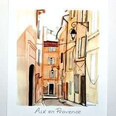 Aix en Provence print by TinfenaStudio on Etsy, $14.00 SOLD