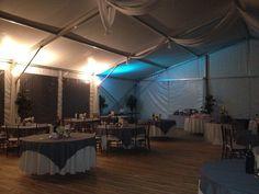 Blue lights for tent