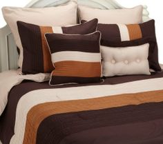Florence 8-Piece Bed in a Bag Comforter Set, Queen, Taupe by Luxor Treasures, http://www.amazon.com/dp/B005TOY472/ref=cm_sw_r_pi_dp_wDGdrb09BSVZQ