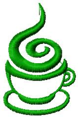 Coffee cup free embroidery design 2 - Kitchen and Cooking embroidery designs - Machine embroidery community