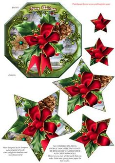 Lovely Xmas Star Pyramid Topper 1 on Craftsuprint - Add To Basket!
