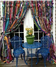 Bohemian Valhalla: Boho Rag Curtains And My Fabric Obsession curtain?