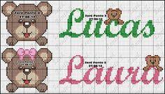 Gráficos Ponto Cruz Angela Bordados: ursinhos