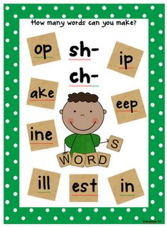 How Many Words Can you Make? SH CH