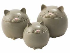 3-pc. Here Lil' Kitty Canister Set by Del Rey at Cooking.com