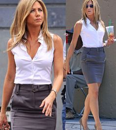 Celebrity style watch: Jennifer Aniston's onset look for less - San Jose Budget Fashion Scene | Examiner.com