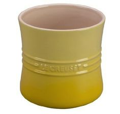 Le Creuset Utensil Crock - Soleil Yellow - The stoneware utensil crocks from Le Creuset are an ideal solution for stylish organizing on the countertop or kitchen island. 6.3 inch diameter by 5.5 inches high.