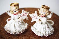 Cute little vintage Christmas figurines