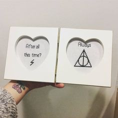 Harry Potter cross stitch after all is time always frame by BlackberryStitchShop on Etsy