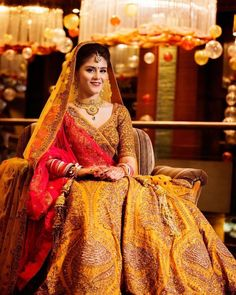 Sabyasachi Bridal Lehenga Online on Happy Shappy. Browse trending collection and price range for bridal and wedding. You can also find 2020 latest design, replica, red designs and rent in Delhi. Sabyasachi Lehenga Bridal, Indian Wedding Lehenga, Lehenga Choli, Floral Lehenga, Yellow Lehenga, Indian Lehenga, Punjabi Wedding, Indian Weddings, Designer Bridal Lehenga