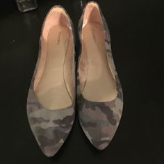 Army green flats Like new- worn once. Shoes Flats & Loafers