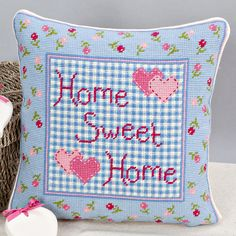 'Home Sweet Home' Tapestry Cushion by Twilleys of Stamford.