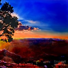 Angel Painting - Sunset Painting Grand Canyon by Bob and Nadine Johnston