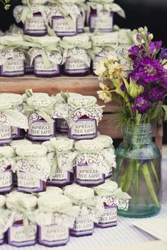 Purple is considered a very romantic color, especially when it comes to a themed wedding party. Purple wedding ideas are very popular among brides and couples of all ages. We have shared three purple wedding ideas so that you can design your own. Wedding Favour Jars, Wedding Party Favors, Wedding Gifts, Party Favours, Cheap Favors, Unique Wedding Favors, Wedding Ideas, Wedding Venues, Wedding Photos