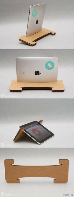 soporte de madera para iPad oTablet