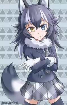 Anime Wolf Girl, Anime Girl Neko, Anime Art Girl, Cute Anime Character, Character Art, Kawaii Neko Girl, Werewolf Girl, Kemono Friends, Furry Drawing