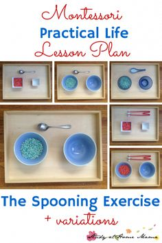 Montessori Practical Life: The Spooning Exercise ⋆