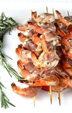 prosciutto wrapped shrimp skewers 35 to 40 6 inch wooden skewers 1 ...