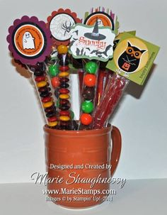 Halloween Skinny Bag Treats by Card Shark - Cards and Paper Crafts at Splitcoaststampers