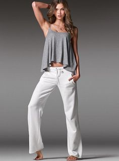 Vintage-wash Fleece Boyfriend Pant - Victoria's Secret...looks SOOO comfy!