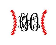 Baseball Stitches Monogram instant download cut by bibberberry