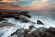 PULLBACK by Patrick Downey    Receeding ocean waves at Schoodic Point, Acadia National Park, Maine