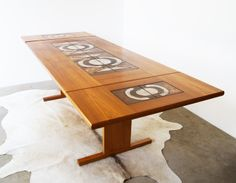 Gangso Mobler dining table with inset ceramic tiles by Poul Hermann ...