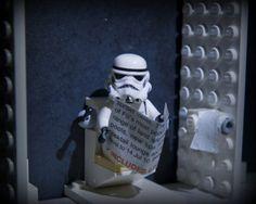 Look! He's a fan! #bathroomreading #starwars