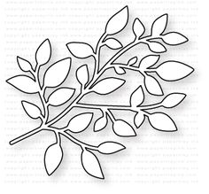 Papertrey Ink - Branching Out Die: Papertrey Ink Clear Stamps Dies Paper Ink Kits Ribbon How To Make Paper Flowers, Paper Flowers Craft, Paper Flower Wall, Giant Paper Flowers, Flower Crafts, Paper Crafts, Leaf Template, Flower Template, Templates