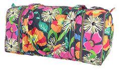 Small Duffel | Vera Bradley: jazzy blooms