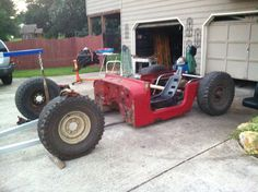 My jeep rat rod progress. 9-1-13 got the tub cut to fit on the tune chassis.....slowly but Sherley.