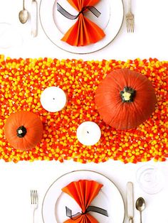 Easy Halloween Candy Corn Crafts - Candy Corn Decorations at WomansDay.com - Woman's Day