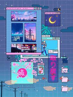Doodles Kawaii, Art Kawaii, Cute Kawaii Drawings, Anime Scenery Wallpaper, Aesthetic Pastel Wallpaper, Aesthetic Backgrounds, Aesthetic Wallpapers, Naruto Wallpaper, Art Vaporwave