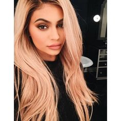 Kylie Jenner goes back to blonde for Justin Bieber concert ❤ liked on Polyvore featuring hair, people, kylie jenner and backgrounds