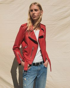 The Balfern, but not as you know it AllSaints Style Casual, Casual Wear, My Style, Thing 1, Fashion Outfits, Fashion Trends, Nice Dresses, Leather Jacket, Red Leather