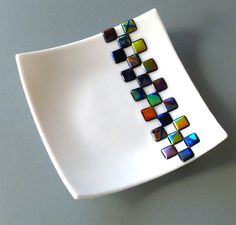 Dichroic Checkerboard Dish by FusedGlassMenagerie on Etsy, $30.00