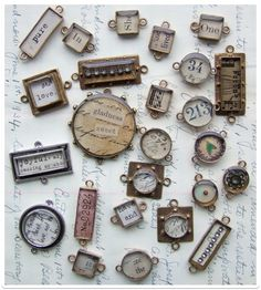Love these bezels with the vintage rhinestones inside!