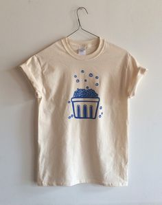 Screen Printed Blueberry T Shirt, Fruit Print by andMorgan on Etsy https://www.etsy.com/listing/241065012/screen-printed-blueberry-t-shirt-fruit