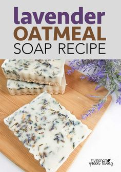 is an easy no lye Homemade Lavender Oatmeal Soap Recipe. It smells amazing and you will reap the benefits of the lavender!Here is an easy no lye Homemade Lavender Oatmeal Soap Recipe. It smells amazing and you will reap the benefits of the lavender! Handmade Soap Recipes, Soap Making Recipes, Handmade Soaps, Diy Soaps, Diy Soap Gifts, Lye Soap, Savon Soap, Diy Soap No Lye, Homemade Skin Care