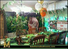 Jungle baby shower ideas safari theme baby shower decorations decoration jungle safari jungle themed first birthday Jungle Book Party, Jungle Theme Parties, Jungle Theme Birthday, Safari Theme, Birthday Party Themes, Jungle Safari, Safari Party, Birthday Ideas, Jungle Decorations