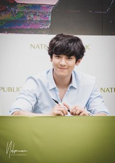 Nature Repulic Fansign at Bangkok Kyung Hee, Do Kyung Soo, Kim Joon, Kim Min Seok, Baekhyun Chanyeol, Park Chanyeol, For All My Life, Baby Park, Hello Brother